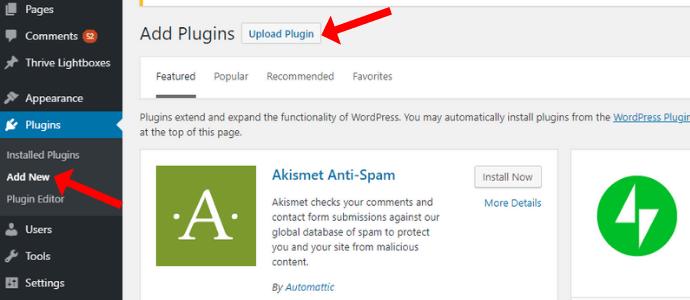 Cách upload plugin lên website wordpress
