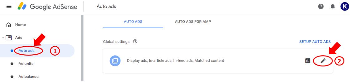 auto ads của google adsense
