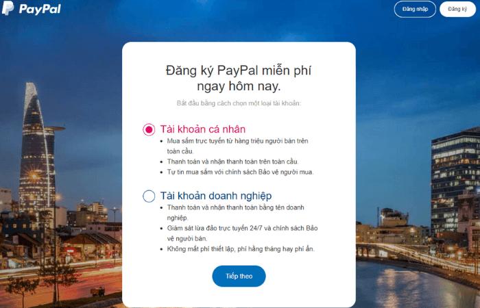 hướng dẫn đăng ký tài khoản paypal cá nhân