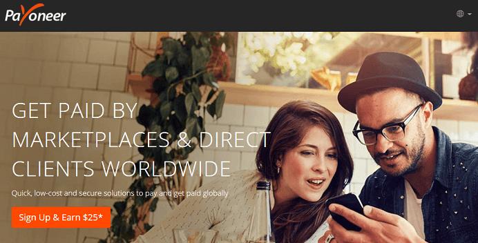 Link đăng ký tài khoản Payoneer nhận $25 khuyến mãi miễn phí