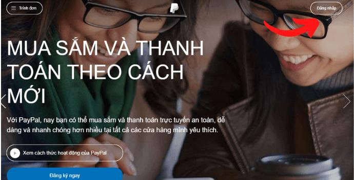 Trang chủ PayPal giao diện tiếng Việt