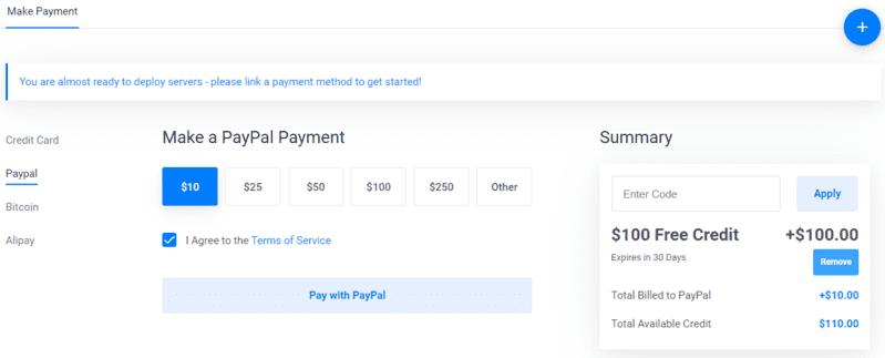 Thanh toán vultr bằng paypal